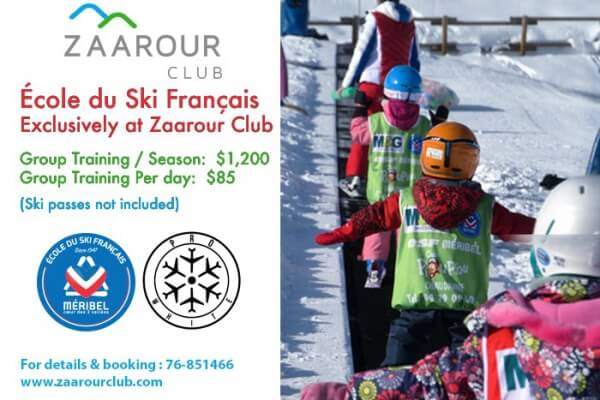 École du Ski Français For the first time in Lebanon & Exclusively at Zaarour Club